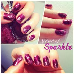 A splash of sparkle to a plum manicure.  Follow me on Instagram @lingerz for more!