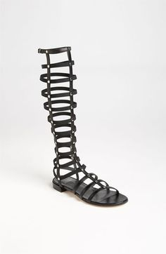 Stuart Weitzman Gladiator Sandal. Wearing this might make me feel like fighting! Yikes.