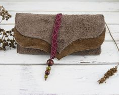 Rolling Tobacco Pouch - Leather Tobacco Pouch - Suede - Brown - Macrame- Tobacco Bag Leather Tobacco Pouch, Leather Pouch, Macrame, Etsy Seller, Rolls, Handmade Items, Reusable Tote Bags, Group, Board