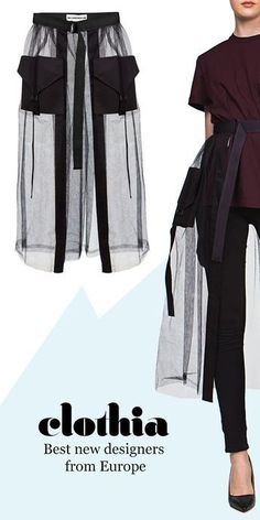DIY Tulle Skirt Tulle mesh skirt with adjustable belts and pockets. Best new European fashion from C Fashion Details, Look Fashion, Hijab Fashion, Diy Fashion, Ideias Fashion, Fashion Dresses, Womens Fashion, Fashion Trends, Fashion Online