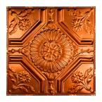 Rochester 2 ft. x 2 ft. Nail-up Tin Ceiling Tile in Copper (Brown)