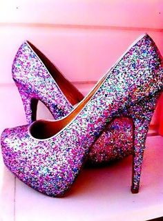 Dark Pink Pink Sparkly Heels - Inspring High Heels with Sexy High Heels,Studded High Heels,Crystal High Heels,Party High Heels, Love it! Pretty Shoes, Beautiful Shoes, Cute Shoes, Me Too Shoes, Sparkle Heels, Glitter Shoes, Glitter Fabric, Lila High Heels, Boots