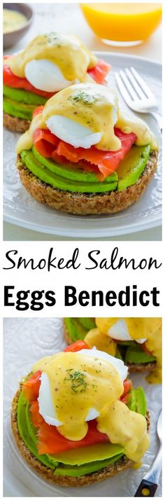 Learn how to make restaurant quality Smoked Salmon and Avocado Eggs Benedict! Click through for the recipe.