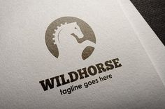 Wild Horse Logo by It's a Small World on @creativemarket