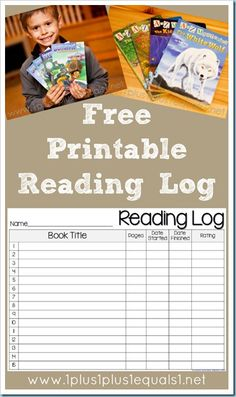 This FREE Reading Log includes the title, number of pages, date started and completed,and a place for your child to rate the book Reading Resources, Reading Strategies, Reading Activities, Reading Skills, Teaching Reading, Reading Lessons, Guided Reading, Reading Logs, Free Reading