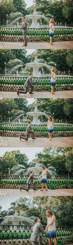 They were in the middle of a photoshoot when he got on one knee, and her reaction is the cutest!