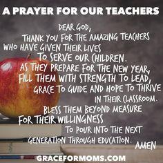 Back to School Prayer for Teachers                                                                                                                                                     More
