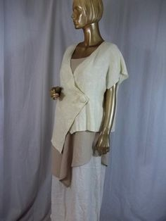 Lagenlook, jacket, washed linen, rayon, creamy white, asymmetric, short,  plus size, summer, resort, Size XS-5XL. Free shipping in USA. by itbecomesyou on Etsy https://www.etsy.com/listing/202726574/lagenlook-jacket-washed-linen-rayon