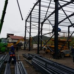 Manufacturing and Assembly Spaleck Hall Resita - Steel Structures Buildings - Duna-steel. Steel Structure Buildings, Metal, Romania, Dune