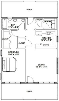 28x32 House -- #28X32H1 -- 895 sq ft - Excellent Floor Plans