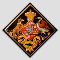 Hatchment of Catherine Otway widow of John Reginald Lygon, later Pyndar, Earl Beauchamp St Nicholas, Stanford On Avon, Northamptonshire. Saint Nicholas, Ultimate Collection, European History, Crests, Coat Of Arms, Black Backgrounds, Funeral, Avon, Santa Lucia