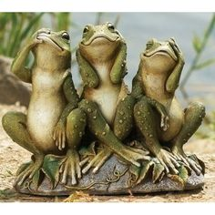 Hear No Evil, See No Evil, Speak No Evil Garden Frogs