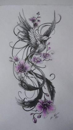 Dope Tattoos, Mini Tattoos, Leg Tattoos, Body Art Tattoos, Sleeve Tattoos, Feniks Tattoo, Phoenix Tattoo Sleeve, Tatoos, Phoenix Tattoo Girl