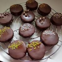 Ischler (Isler) recept képekkel Doughnut, Muffin, Pudding, Cookies, Breakfast, Recipes, Drink, Food, Diet