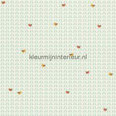 Vogels op abstracte achtergrond behang 302973 uit de collectie Esprit Kids 4 van AS Creation ontdek je bij kleurmijninterieur