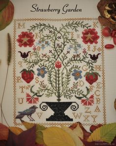 1000 images about barb adams quilter on pinterest for Blackbird designs strawberry garden