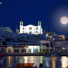 Lipsi Island Full moon Greece by Vagelis-Petalias Beautiful Islands, Beautiful Places, Places Around The World, Around The Worlds, Santorini Villas, Myconos, Greece Islands, Greek Wedding, Once In A Lifetime