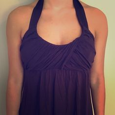 Matty M purple halter top with satin tie Matty M purple halter top with satin tie. Urban Outfitters Tops Blouses
