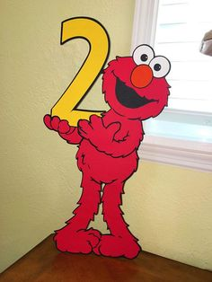 Elmo Decoration Large Size standee Elmo Second Birthday Elmo Elmo Birthday, Dinosaur Birthday, Boy Birthday Parties, Dinosaur Party, Birthday Ideas, Third Birthday, Elmo Decorations, Birthday Decorations, Sesame Street Party