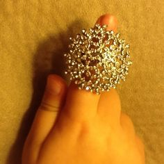 Gorgeous  flower ring.. Beautiful stunning ring with little tiny flowers and diamond accents.. :-) Banana Republic Jewelry Rings