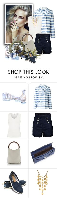 """Shorts & Blazer"" by ksenia-lo ❤ liked on Polyvore featuring O'Neill, VIVETTA, Armani Collezioni, Marni, TOMS, John Hardy, Loewe, shorts, blazer and sea"