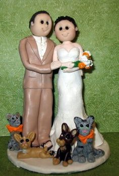 Custom Cake Toppers - with cats