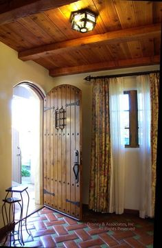Spanish Mission Mediterranean Entry, Love The Tile · Entry Door HardwareEntry  ...