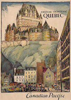 Château Frontenac Québec 1950