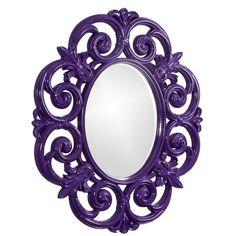 $350 Antoinette Mirror in Glossy Royal Purple