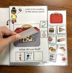 Jenna's Lunch:  An Interactive & Adaptive Book by Panda Speech