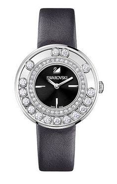 Swarovski Crystal LOVELY CRYSTALS BLACK WATCH 1160306