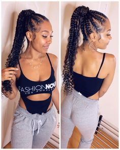 braided hairstyles for black women 30 Popular Goddess Braids Ideas For Ravishing Natural Hairstyles Braided Ponytail Hairstyles, African Braids Hairstyles, African American Hairstyles, Protective Hairstyles, Hairstyles With Braiding Hair, Cornrolls Hairstyles Braids, African Hair Braiding, Cornrow Ponytail, Faux Locs Hairstyles