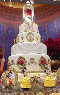 Beauty and the Beast Cake from our Johnson and Clark wedding today ...