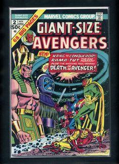 Giant Size Avengers 2 F VF 1974 Marvel Comic Book   eBay