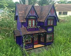 "Witch's Dollhouse, fully furnished! Hand made, hand painted, one of a kind, OOAK, 1:12 1/12 1"" scale"