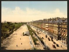 [Avenue de la opera (i.e. Rue de Rivoli) and the garden of the Tuileries, Exposition Universal, 1900, Paris, France]