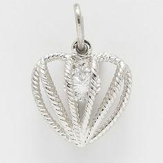 Heart Birthstone Charm.  $27.50  http://www.charmnjewelry.com/sterling-silver-charms.htm  #SilverCharm