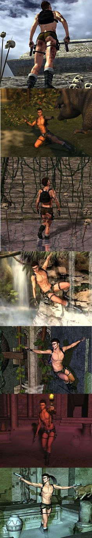 Et si Lara Croft était un homme - SlyGeek