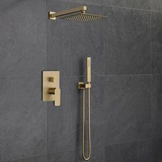 FontanaShowers Napoli Rainfall Volume Control Complete Shower System with Rough-in Valve | Wayfair