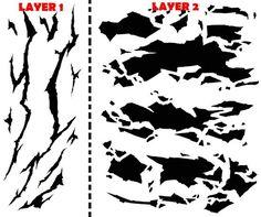 camo stencil   Winter Camouflage Airbrush Stencil Air Brush Template   eBay