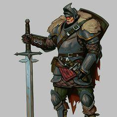 Wandering knight https://www.artstation.com/p/3x0xJ Evgeniy Evstratiy 2D/3D Concept Artist and Illustrator -- Share via Artstation Android App, Artstation © 2017