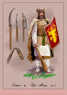 Moldavian warrior, Big Army, Stefan the Great. by Nikuloki (Sergiu Ninicu) study Ostasi moldoveni a armatei lui Stefan cel Mare a 15 veac. Medieval Art, Medieval Fantasy, Michael I Of Romania, Romania People, Templer, History Images, Vikings, Knights Templar, Fantasy Inspiration
