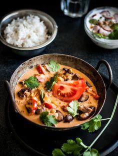 Part Time Chef: Easy Mushroom curry with Radish Asparagus Raita