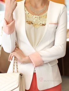 Pure Color Slim Blazers  #buytrends #fashion #style #blazer