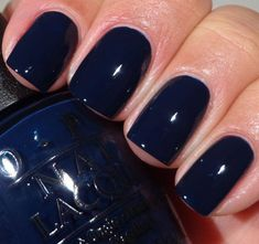 Nails OPI San Francisco Collection - Inkognito In Sausalito Maintaining Healthy Hair throughout the Nails Opi, Opi Nail Polish Colors, Nail Colors, Winter Nails Colors 2019, Sinful Colors, Gel Polish, Dark Blue Nails, Navy Nails, Navy Blue Nail Polish