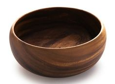 """ACACIA WOOD 10"""" SERVING BOWL HAND CARVED FAIR TRADE -PRE ORDER #HandCarved"""