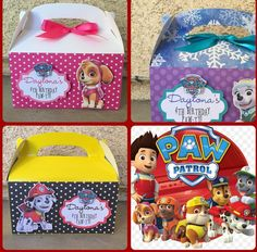 Paw Patrol favor boxes by NiftyKreations1 on Etsy