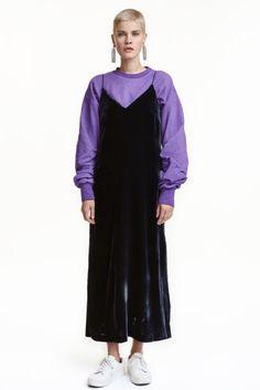 Vestido de alças com seda | H&M