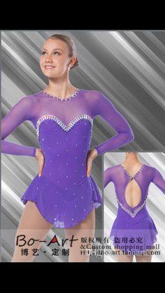 Design: Brad Griffies. Purple Swarovski ice skating dress