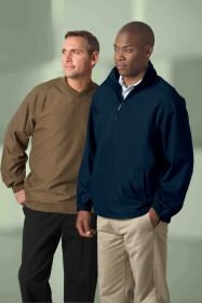 Promotional Products Ideas That Work: MEN'S MICRO PLUS HALF-ZIP WINDSHIRT WITH TEFLON. Get yours at www.luscangroup.com